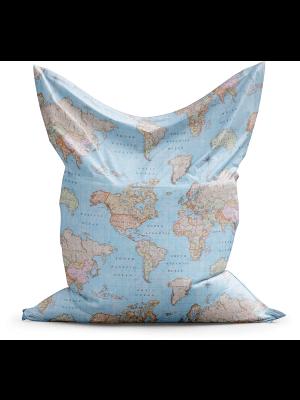 Sitzsack Weltkarte